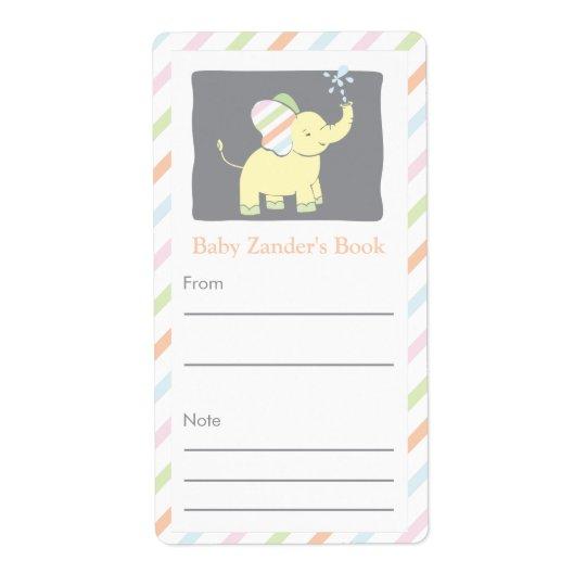 Neutral Elephant Bookplate