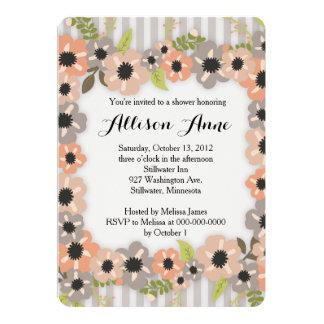 Neutral Floral Bridal Shower Invitation