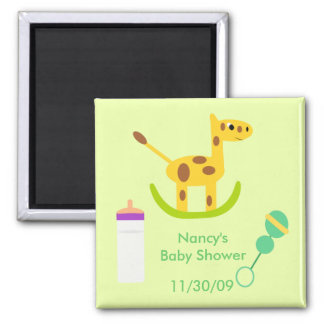 Neutral Giraffe Toy Baby Shower Favor Magnets