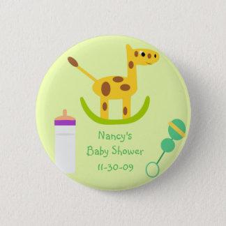 Neutral Giraffe Toy Button Baby Shower Favors