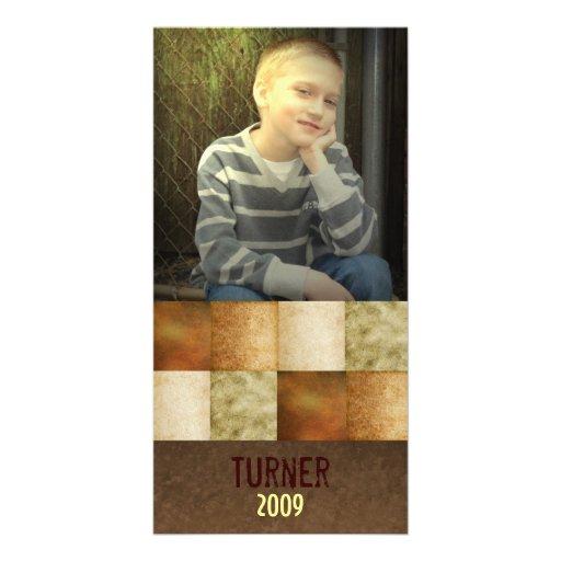 Neutral grunge block photo card