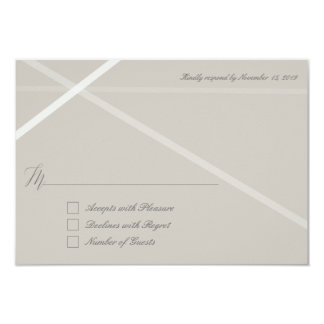 Neutral lines RSVP Cards 9 Cm X 13 Cm Invitation Card