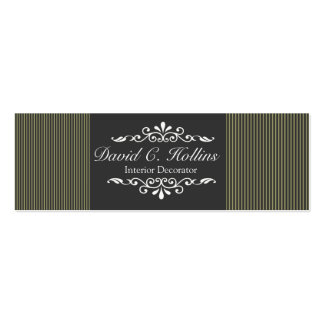 Neutral  Pinstripes Pack Of Skinny Business Cards