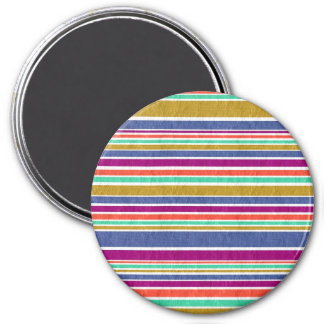 Neutral Rainbow Stripes Pattern Magnet