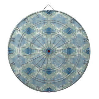 Neutral Shades of Blue Gray Pattern Dartboard