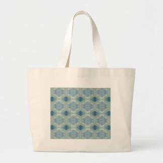 Neutral Shades of Blue Gray Pattern Large Tote Bag