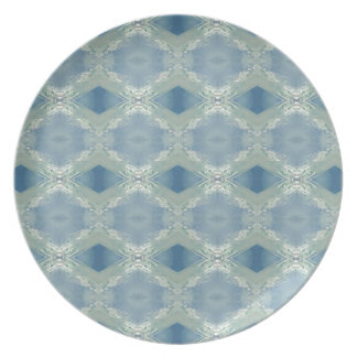 Neutral Shades of Blue Gray Pattern Plate