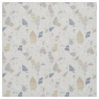 Neutral Terrazzo Textile Pattern Gray Blue Cream Fabric