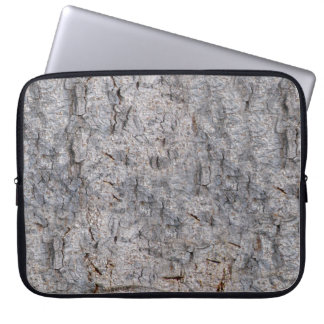 Neutral Tropical Tree Bark Photo Laptop Sleeve