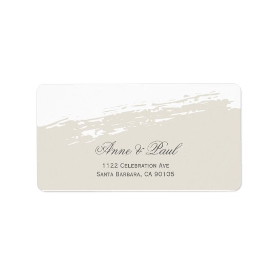 Neutral watercolor Address Labels