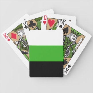 Neutrois pride flag playing cards