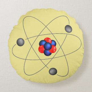 Neutron Proton Atomic Round Pillow