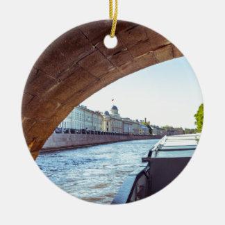 Neva River Cruise Ceramic Ornament