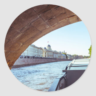Neva River Cruise Classic Round Sticker