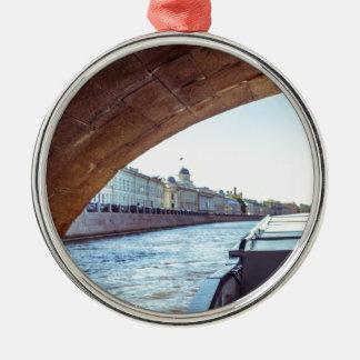 Neva River Cruise Metal Ornament