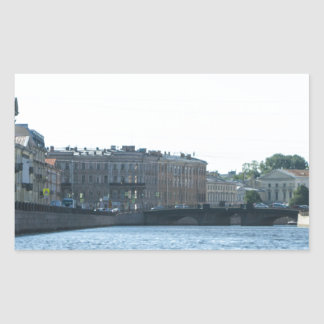 Neva River Cruise Rectangular Sticker