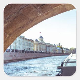 Neva River Cruise Square Sticker