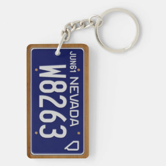 Nevada 1961 Vintage License Plate Keychain