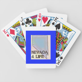"""Nevada 4 Life"" State Map Pride Design Bicycle Playing Cards"