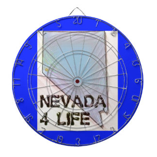 """Nevada 4 Life"" State Map Pride Design Dartboard"