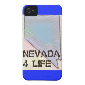 """Nevada 4 Life"" State Map Pride Design iPhone 4 Case-Mate Cases"