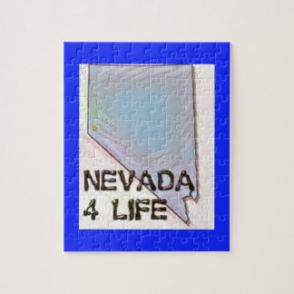 """Nevada 4 Life"" State Map Pride Design Jigsaw Puzzle"