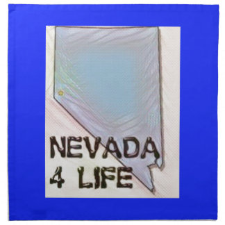 """Nevada 4 Life"" State Map Pride Design Napkin"
