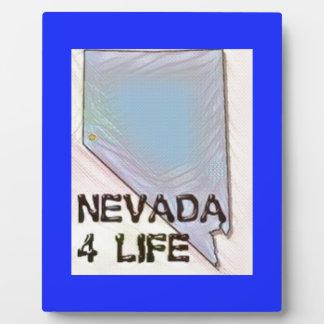 """Nevada 4 Life"" State Map Pride Design Plaque"