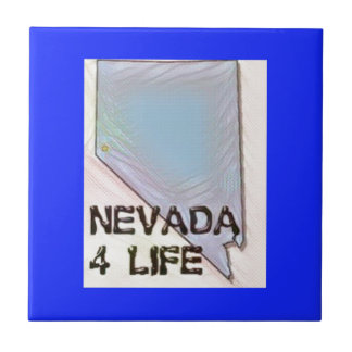 """Nevada 4 Life"" State Map Pride Design Tile"