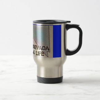"""Nevada 4 Life"" State Map Pride Design Travel Mug"