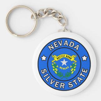 Nevada Basic Round Button Key Ring