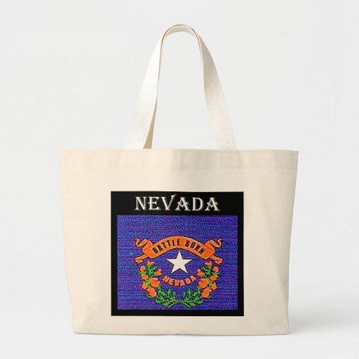 Nevada Battle Born Tote Bags