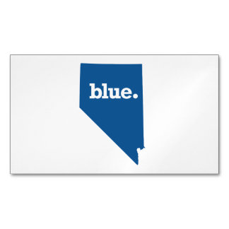 NEVADA BLUE STATE MAGNETIC BUSINESS CARDS