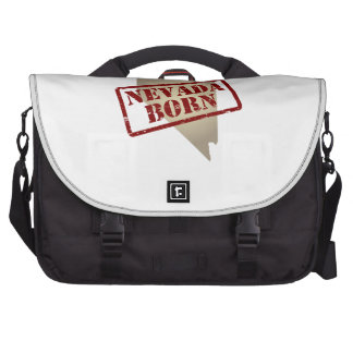 Nevada Born - Stamp on Map Laptop Computer Bag