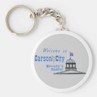 NEVADA Carson City Basic Round Button Key Ring