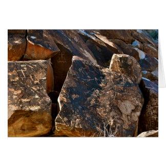 Nevada Chistmas Tree Pass Petroglyph Greet Card 3