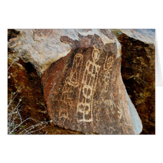Nevada Christmas Tree Pass Petroglyph Greet Card 1