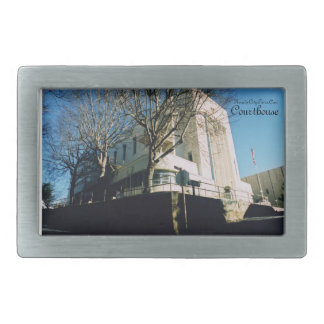Nevada City Tours California Old County Courthouse Rectangular Belt Buckle