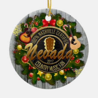 Nevada Country Music Fan Christmas Ornament