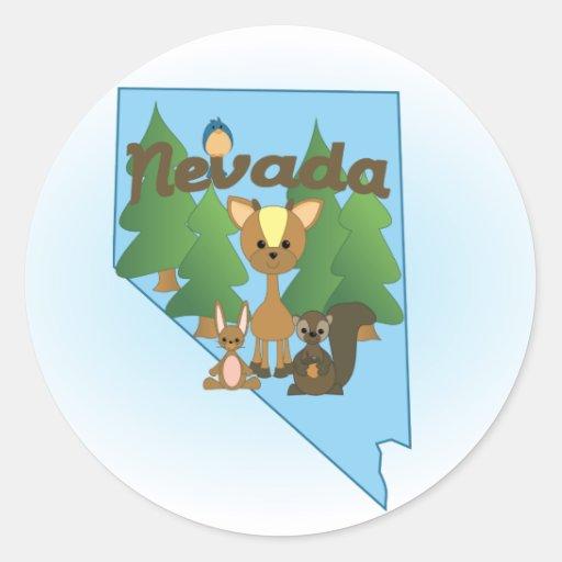 Nevada Cuties Round Sticker