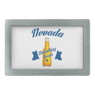 Nevada Drinking team Rectangular Belt Buckle