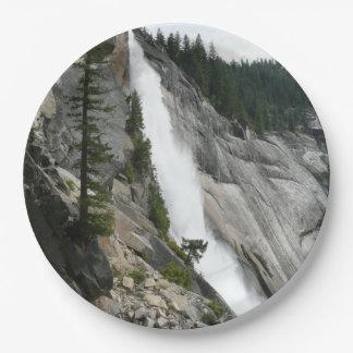 Nevada Falls at Yosemite National Park Paper Plate
