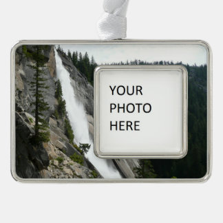 Nevada Falls at Yosemite National Park Silver Plated Framed Ornament