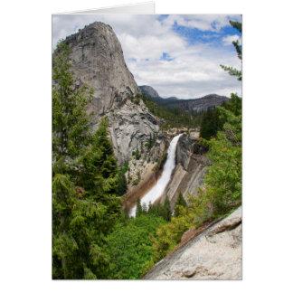 Nevada Falls from John Muir Trail (Blank Inside) Card