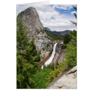 Nevada Falls from John Muir Trail (Custom Message) Card