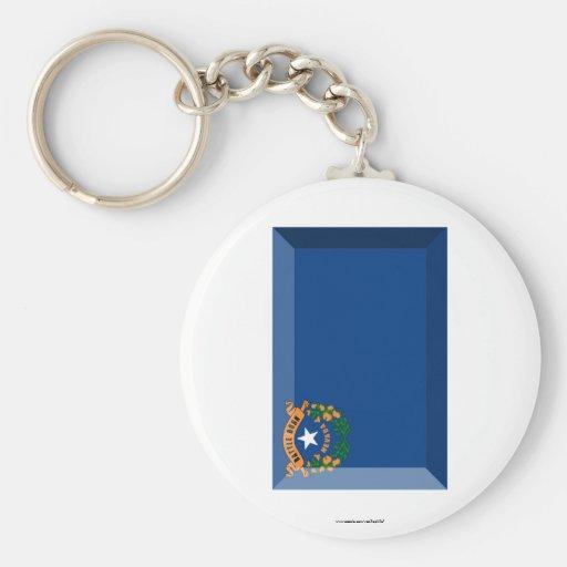 Nevada Flag Gem Keychains