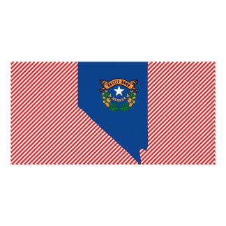 Nevada Flag Map Photo Greeting Card