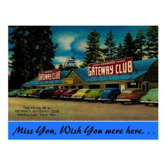 Nevada, George's Gateway Club, Lake Tahoe Postcard