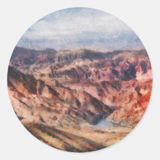 Nevada - Grand Hills Round Stickers