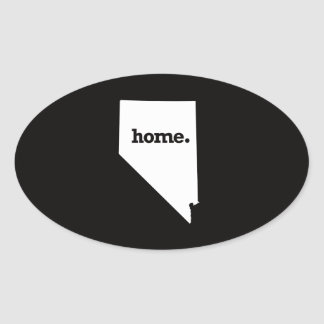 Nevada Home Oval Sticker